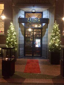 Eingang Restaurant Fling in Einhoven