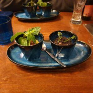 Dessert im Restaurant Fling