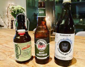Verkostung von drei historischen Bieren